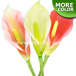 FSH1601 Artificial Foam Calla Lily Flowers, available in size 4 inches and 6 colors