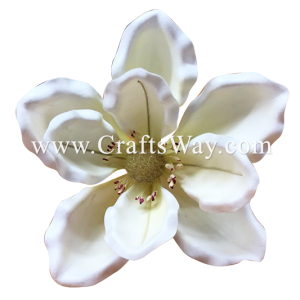 FSH2202 Artificial Foam Magnolia Flowers (Type B) available in size 6″ and white color