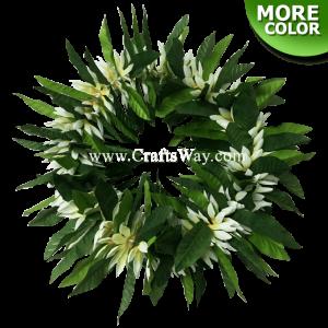 HK001-C Elastic Silk Maile & Silk Daisy Flower Headband,