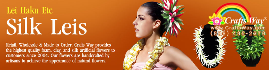 Retail and wholesale Hawaiian Silk Leis, Silk Haku | CraftsWay.com