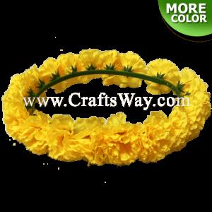 Silk Carnation Headband, Hawaiian Flower Headband, Flower Haku Headband