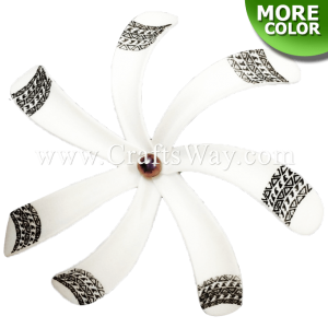 FSH430-A-P Artificial Foam Tiare Flowers (Type B Tribal-A With Pearl)
