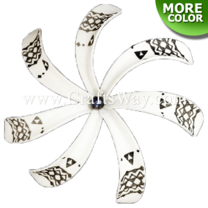 FSH430-B-P Artificial Foam Tiare Flowers (Type B Tribal-B With Pearl)
