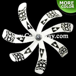 FSH430-C-P Artificial Foam Tiare Flowers (Type B Tribal-C With Pearl)