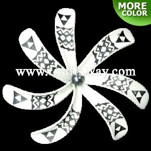 FSH430-D-P Artificial Foam Tiare Flowers (Type B Tribal-D With Pearl)