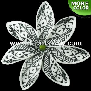 """FSH437 Artificial Foam Tiare Flowers (Type IE Tribal 7"""")"""