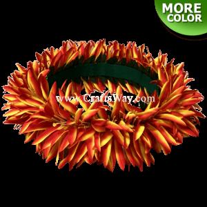 HK008-H Silk Spider Lily Velcro Headband, Hawaiian Flower Headband, Flower Haku Headband