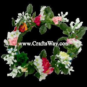 HK009-B Silk Rose Headband, Hawaiian Flower Headband, Flower Haku Headband