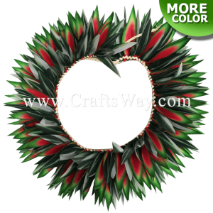 HK014 Braided Heliconias & Smooth Leaves Headband