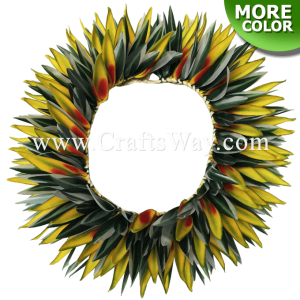 HK022 Braided Heliconias & Smooth Leaves Headband
