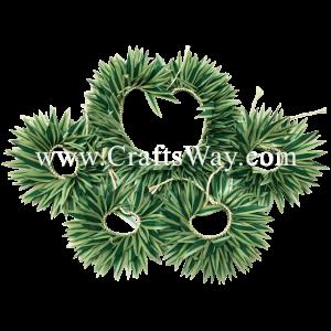 HULA-SET06 Braided Smooth Leaves Hula Set #6