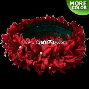 HK008-F Silk Orchid Velcro Headband, Hawaiian Flower Headband, Flower Haku Headband