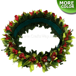 HK008-C Silk Orchid Velcro Headband, Hawaiian Flower Headband, Flower Haku Headband