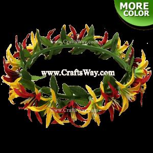 Silk Spider Lily & Maile Headband, Hawaiian Flower Headband, Flower Haku Headband