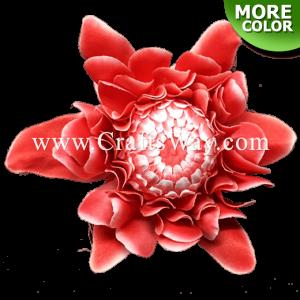 SK1101 Artificial Silk Torch Ginger Flower