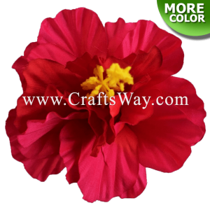 SK802 Artificial Silk Hibiscus Flowers (Double)