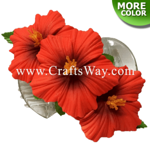 CMS-006 Custom Made Flower Hairpiece, Hibiscus (B) Hair Clip