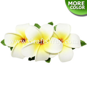 CMS-007 Custom Made Flower Hairpiece, Plumeria (O) Hair Clip