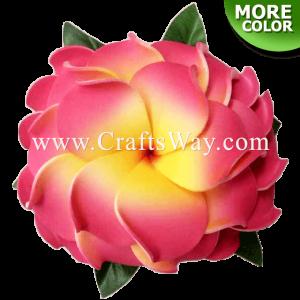 CMS-010 Custom Made Flower Hairpiece, 3 Layers Plumeria (A) Hair Clip