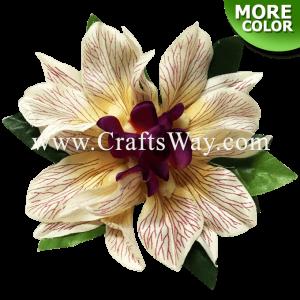 CMS-018 Custom Made Flower Hairpiece, Orchid (E) Hair Clip