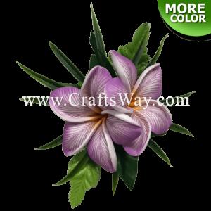 CMS-047 Custom Made Flower Hairpiece, Plumeria (UA) Hair Clip