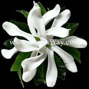 CMS-052 Custom Made Flower Hairpiece, Tiare (UE) Hair Clip