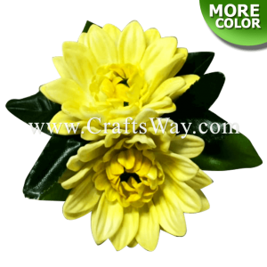 CMS-054 Custom Made Flower Hairpiece, Mum Hair Clip