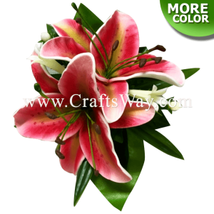 CMS-056 Custom Made Flower Hairpiece, Lily Hair Clip