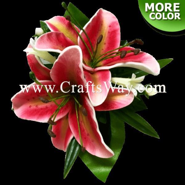CMS-056 Custom Made Flower Hairpiece, Lily Hair Clip