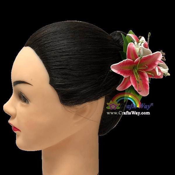 CMS-056 Custom Made Flower Hairpiece, Lily Hair Clip Sample