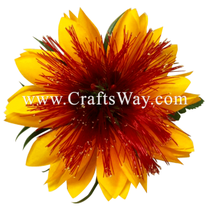 CMS-059 Custom Made Flower Hairpiece, Lehua & Champa Hair Clip