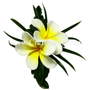 CMS-061 Custom Made Flower Hairpiece, Plumeria (HU) Hair Clip