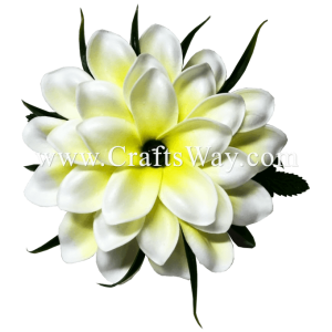 CMS-063 Custom Made Flower Hairpiece, Plumeria (AI) Hair Clip