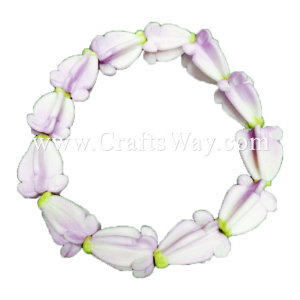 CYB-102 Artificial Clay Flower, Crown Flower Wristband #Lavender