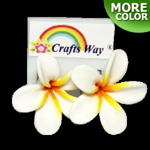 CYE-101 Artificial Clay Flower, Plumeria (A) Earrings