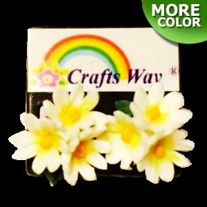CYE-501 Artificial Clay Flower, Daisy Earrings
