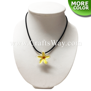 CYN-101 Artificial Clay Flower, Plumeria Necklace (A)