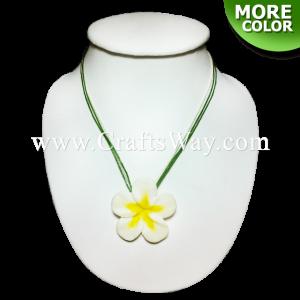 CYN-201 Artificial Clay Flower, Plumeria Necklace (B)