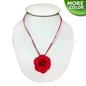 CYN-301 Artificial Clay Flower, Rose Necklace