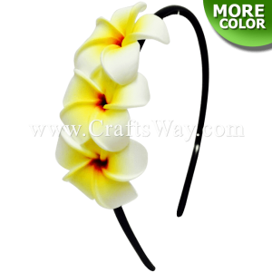 FHB2-002 Custom Made Flower Hairpiece, Plumeria (O) Headband