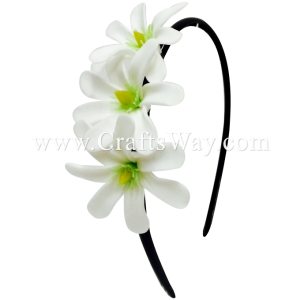 FHB3-001 Custom Made Flower Hairpiece, Tiare (A) Headband