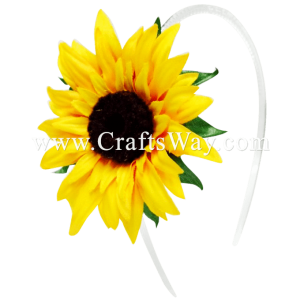 FHB5-001 Custom Made Flower Hairpiece, Sunflower Headband