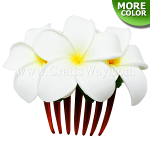 HCS-001 Custom Made Flower Hairpiece, Plumeria Hair Comb