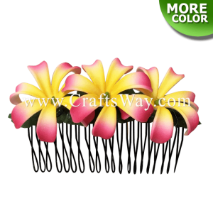 HCS-003 Custom Made Flower Hairpiece, Mini Tiare Hair Comb