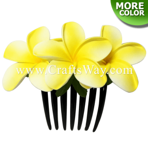 HCS-006 Custom Made Flower Hairpiece, Plumeria (OI) Hair Comb