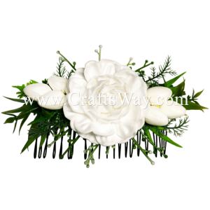 HCS-007 Custom Made Flower Hairpiece, Foam Pikake Hair Comb