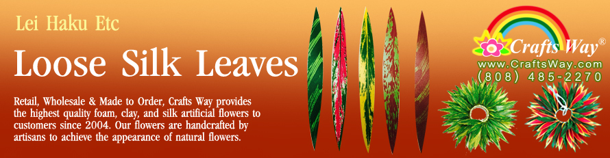 Hawaiian Loose Silk Leaves | CraftsWay.com