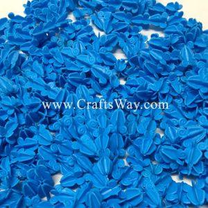 PLF-106 Artificial Plastic Crown Flower (Blue)