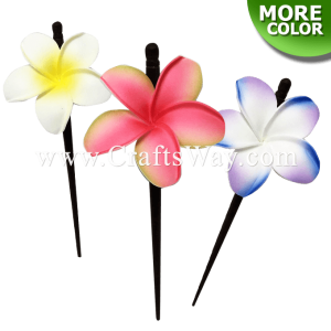WD1F-101 Custom Made Flower Hairpiece, Plumeria (OI) Hair Stick