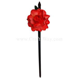 WD1F-401 Custom Made Flower Hairpiece, Gardenia (G) Hair Stick